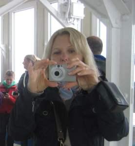 Monika fotografiert für die Reiseberichte