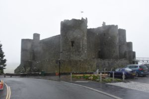 Harlech Castle im Regen