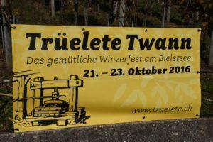 Einladung zur Trüelete in Twann