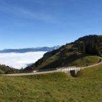 Wegdurchführung der RSB (Rigi-Scheidegg-Bahn) bei der Alpwirtschaft Schild